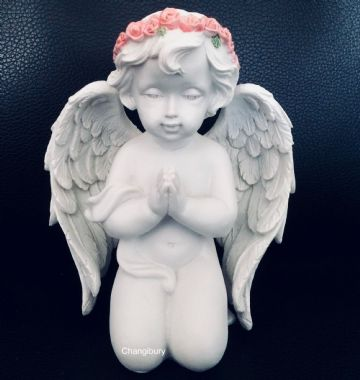Cherub Pink Rose Praying MEDIUM CHE123